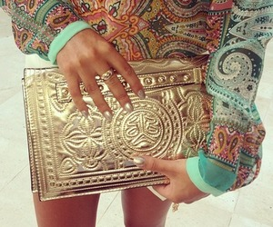 accessories, contrast, and gold image