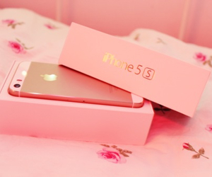 pink, iphone, and apple image