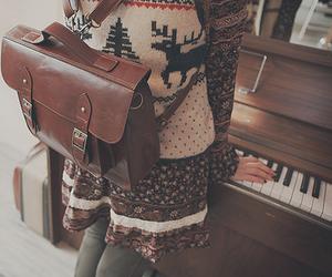 piano, vintage, and bag image