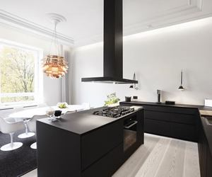black, kitchen, and smooth image