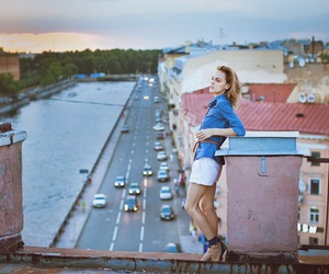 city, roof, and st. petersburg image