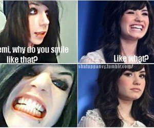 funny, andy biersack, and demi lovato image