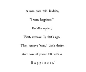 happiness, Buddha, and quote image