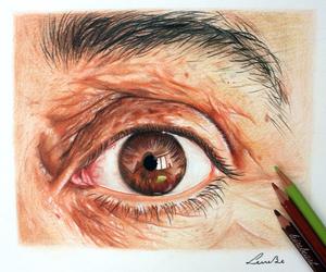 art, eye drawing, and artist image