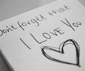 forget, don't forget, and love you image