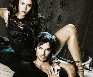 ian somerhalder, Nina Dobrev, and the vampire diaries image
