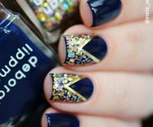 blue nails, girls, and girly image