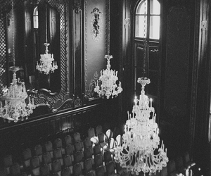 chandelier, photography, and architecture image