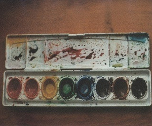 paint, vintage, and art image