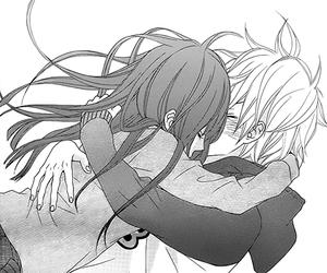 hug, couple, and manga image