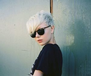 girl, short hair, and style image