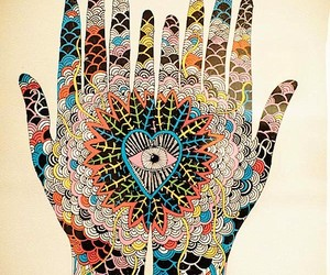 art, hands, and eye image