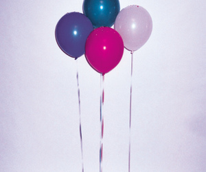 balloons, pink, and party image