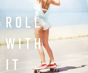 summer, beach, and skate image