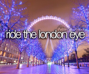 london, london eye, and bucket list image