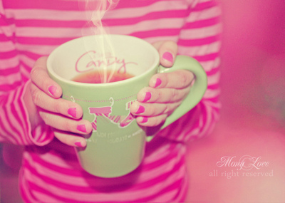 pink, tea, and Hot image