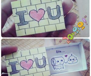 couple, I Love You, and note image
