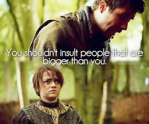 arya stark and gendry waters image