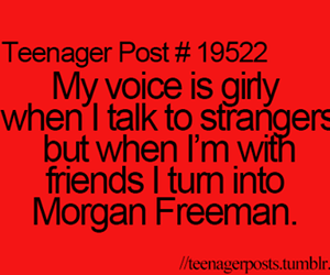 funny, voice, and morgan freeman image