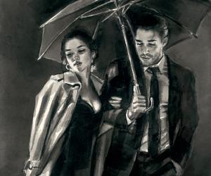 art, couple, and fabian perez image