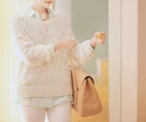 asian, jumper, and model image
