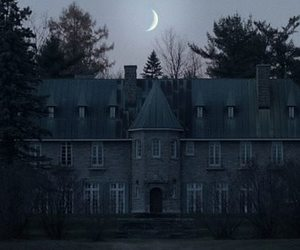 moon, dark, and house image