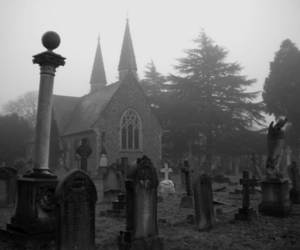 cemetery and black and white image