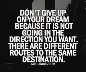 quote, Dream, and don't give up image
