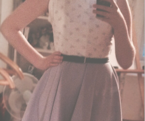 50's, belt, and dress image
