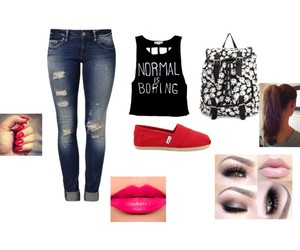 outfit, Polyvore, and toms image