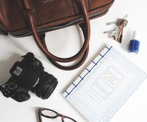 adventure, journal, and camera image