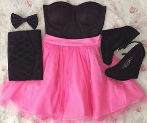 pink, fashion, and black image