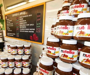 nutella, chocolate, and shop image