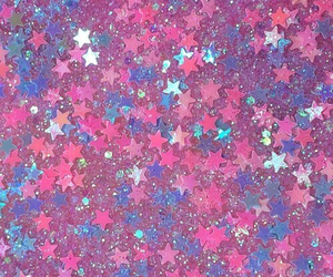 stars, pink, and glitter image