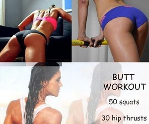 exercise, summer, and workout image