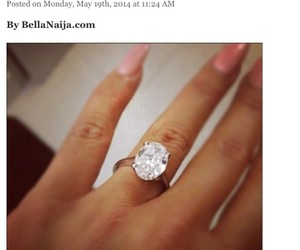 diamonds, engagement ring, and love image