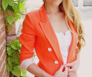 fashion, blazer, and orange image