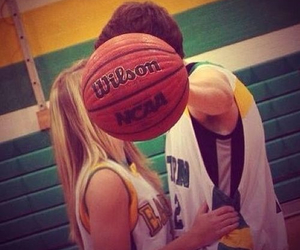 love, Basketball, and couple image