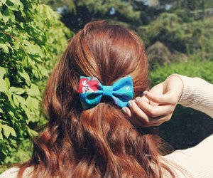 ariel, disney, and hair bow image