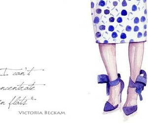 fashion illustration, heels, and polka dots image