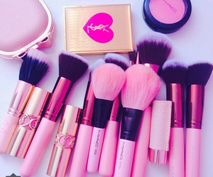 pink, Brushes, and mac image