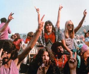 concert, hippies, and peace image