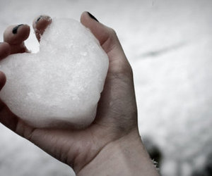 heart, snow, and cold image