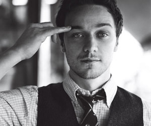 james mcavoy, black and white, and sexy image