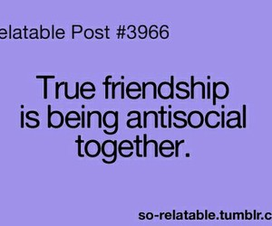 antisocial, friendship, and true image