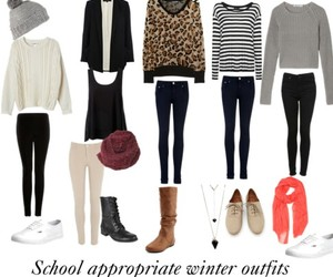 outfit, winter, and school image