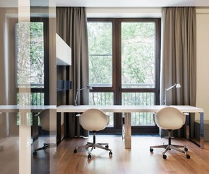 architecture., modern residence, and beautiful drapes image
