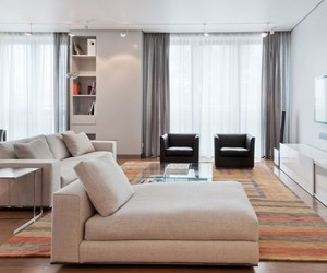 white interior, architecture., and modern residence image