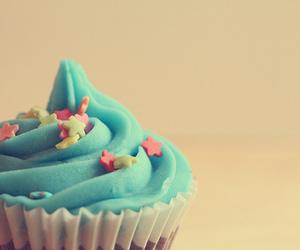 cupcake, blue, and food image