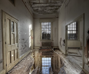abandoned and building image